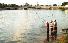 Cần thủ đua nhau ra sông săn cá ở miền Tây