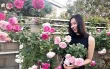 Hoa hậu Dương Mỹ Linh khoe vườn hoa hồng và cây ăn quả ở Mỹ