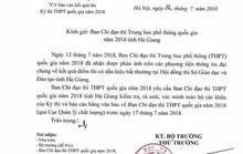 Đoàn Bộ GD-ĐT tới Hà Giang làm rõ vụ điểm thi cao bất thường