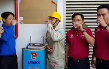 Lắp trụ nước uống tại vòi ở khu lưu trú công nhân
