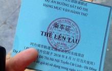 Chữ Trung Quốc trên thẻ lên tàu Cát Linh-Hà Đông do Tổng thầu Trung Quốc tự ý in