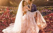Đám cưới trên lưới giăng qua 2 vách núi cao hơn 100m!