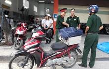 Xác định đối tượng và vật thể nghi mìn vứt trước cửa hàng xe gắn máy