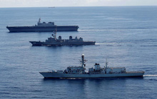 Tàu chiến Anh tập trận với Nhật trước khi đến biển Đông