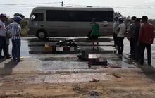 Bình Thuận: Xe khách tông trực diện xe máy, 2 người chết