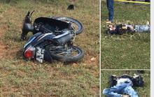 Đi rà sắt, tá hỏa phát hiện nam thanh niên chết bên xe máy