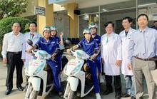 Bệnh viện thứ 2 dùng xe cấp cứu 2 bánh