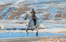 Ông Kim Jong-un cưỡi bạch mã trên ngọn núi thiêng