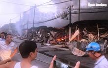 Cháy chợ Còng ở Thanh Hóa, 260 ki-ốt bị thiêu rụi, thiệt hại tiền tỉ