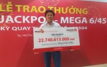 Người hai lần công khai danh tính trúng Jackpot nhận thưởng hơn 22,7 tỉ đồng