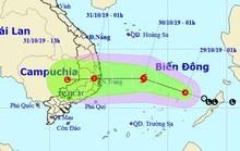 Bão giật cấp 10 vào Nam Trung bộ, mưa rất lớn ở Trung Bộ và Tây Nguyên