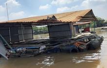 Tàu đâmchìm bè cá trên sông Tiền, thiệt hại cả tỉ đồng