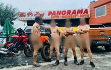 Xác minh thông tin nhóm người đàn ông khỏa thân đi xe máy, làm lố ở danh thắng Mã Pí Lèng
