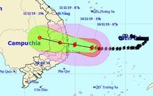 Tối nay 10-11, bão số 6 giật cấp 12 đổ bộ vào Bình Định-Khánh Hòa, mưa lớn 200-300 mm