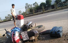 Cô gái trẻ tử vong cạnh chiếc xe máy dập nát trên quốc lộ 1A