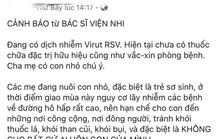 Bác sĩ nhi nói về thông tin virus cực nguy hiểm lây qua những nụ hôn
