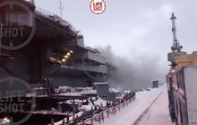 Tàu sân bay duy nhất của Nga cháy, 6 người bị thương