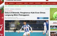 Báo Indonesia mỉa mai Văn Hậu: Cầu thủ đốn Evan Dimas ra mắt 4 phút, nhận 1 thẻ vàng