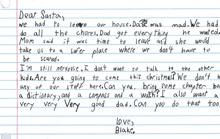 Lá thư đẫm nước mắt gửi ông già Noel: Cho cháu một người cha tốt nhé?