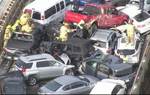 Mỹ: 69 xe gặp tai nạn liên hoàn, hàng chục người bị thương