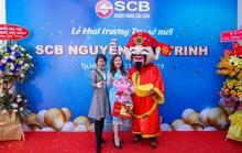 Diễn giả, MC Thi Thảo dự khai trương phòng giao dịch ngân hàng SCB