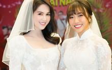 Ngọc Trinh và Diệu Nhi duyên dáng với đầm cô dâu