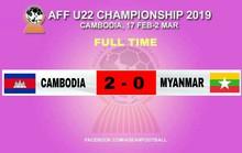 U22 Campuchia sớm vào bán kết, HLV Myanmar bỏ học trò về sớm