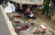 Tông vào đuôi xe tải dừng bên đường, 3 cha con thương vong