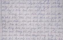 Xúc động với lá thư cám ơn của bà nội 3 cháu bé mồ côi ở Bình Dương