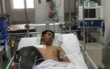 Căng thẳng cứu cánh tay của nam thanh niên bị máy trộn bê-tông cuốn