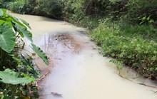 Nước thải có màu vàng đục tuôn ra kênh dài hơn 1 km, khiến người dân kinh hãi