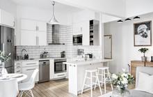 Phòng bếp mang phong cách hiện đại trong không gian chật hẹp