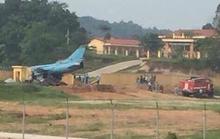 Máy bay quân sự gặp sự cố khi đang hạ cánh ở Yên Bái