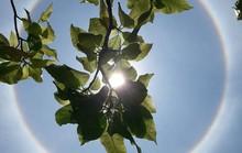 Thích thú với hiện tượng vầng hào quang bao quanh mặt trời ở Quảng Nam