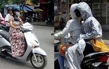 Hiểm họa giao thông từ váy áo chống nắng của phụ nữ