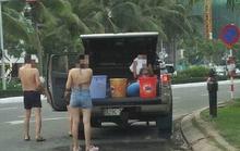 Vô tư biến ôtô thành phòng tắm di động giữa đường phố Đà Nẵng