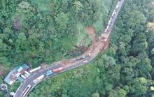 Mưa lớn sạt lở đèo Bảo Lộc, Quốc lộ 20 tê liệt nhiều giờ