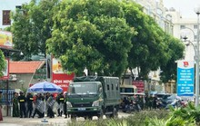 Hàng chục cảnh sát được huy động khẩn tới biển Hải Tiến ngăn chặn xô xát