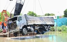 Sau 1 lần gãy cần cẩu, xe tải gây sập cầu BOT được trục vớt thành công