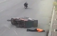 Nữ công nhân quét rác chết thảm vì bị ôtô tông lúc rạng sáng