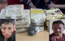 Vận chuyển 60.000 viên ma túy, 2 đối tượng rút chốt lựu đạn chống trả khi bị bắt