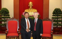 Tổng Bí thư, Chủ tịch nước Nguyễn Phú Trọng tiếp Tổng Bí thư, Chủ tịch nước Lào