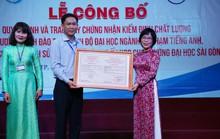 Ba chương trình đào tạo của Trường ĐH Sài Gòn đạt chuẩn kiểm định