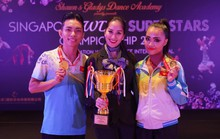 Phan Hiển - Nhã Khanh giành HCV khiêu vũ thể thao ở Singapore