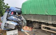 Xe tải và xe đầu kéo tông nhau, tài xế xe tải tử vong trong cabin