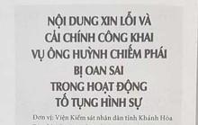 """Viện KSND Khánh Hòa xin lỗi gia đình người """"đến chết vẫn chưa được bồi thường oan sai"""""""