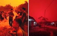 Khói mù làm bầu trời ở một tỉnh của Indonesia đỏ như máu