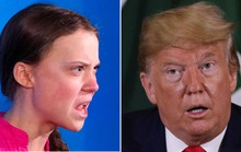 Ánh nhìn sắc lạnh của nữ chiến binh sinh thái 16 tuổi với Tổng thống Donald Trump