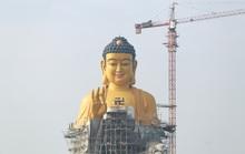 Cận cảnh tượng Phật A Di Đà lớn nhất Đông Nam Á đang hoàn thiện ở Hà Nội