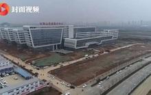 Trung Quốc dựng xong bệnh viện trong… 2 ngày, đã nhận bệnh nhân nhiễm virus Vũ Hán